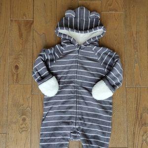 Old Navy fleece outerwear onesie